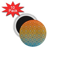 Ombre Fire And Water Pattern 1 75  Magnets (10 Pack)