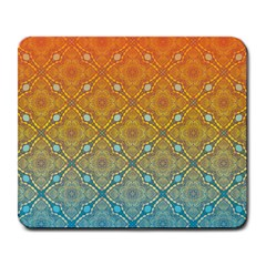 Ombre Fire and Water Pattern Large Mousepads