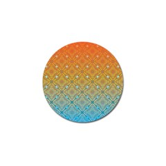 Ombre Fire and Water Pattern Golf Ball Marker