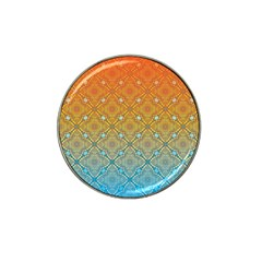 Ombre Fire And Water Pattern Hat Clip Ball Marker (10 Pack)