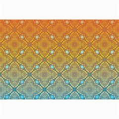 Ombre Fire and Water Pattern Collage Prints