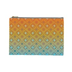 Ombre Fire and Water Pattern Cosmetic Bag (Large)