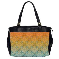 Ombre Fire and Water Pattern Office Handbags (2 Sides)