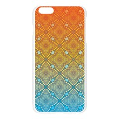 Ombre Fire and Water Pattern Apple Seamless iPhone 6 Plus/6S Plus Case (Transparent)