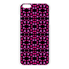 Dots Pattern Pink Apple Seamless iPhone 6 Plus/6S Plus Case (Transparent)