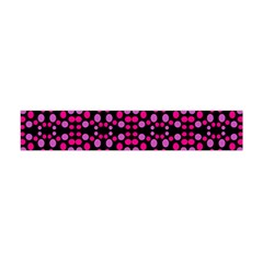 Dots Pattern Pink Flano Scarf (mini)