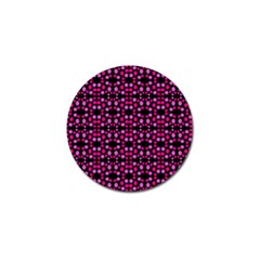 Dots Pattern Pink Golf Ball Marker