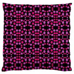 Dots Pattern Pink Large Cushion Case (two Sides)