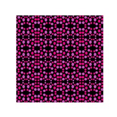 Dots Pattern Pink Small Satin Scarf (Square)