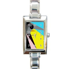 Angry bird Rectangle Italian Charm Watch