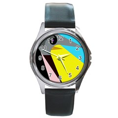 Angry bird Round Metal Watch