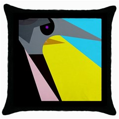 Angry bird Throw Pillow Case (Black)