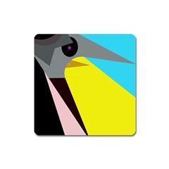 Angry bird Square Magnet