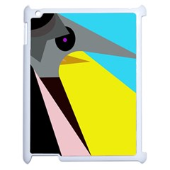 Angry bird Apple iPad 2 Case (White)