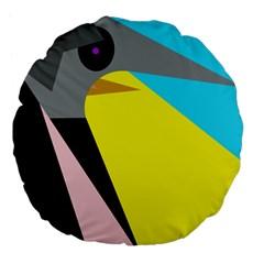 Angry bird Large 18  Premium Flano Round Cushions