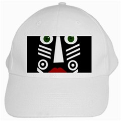 African mask White Cap