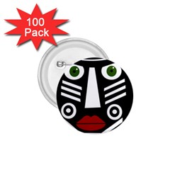African mask 1.75  Buttons (100 pack)