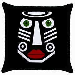 African mask Throw Pillow Case (Black)
