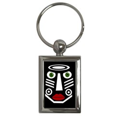 African mask Key Chains (Rectangle)