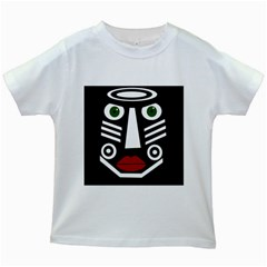 African mask Kids White T-Shirts
