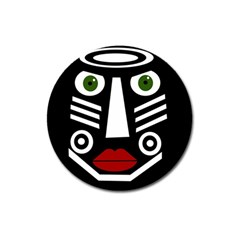 African mask Magnet 3  (Round)