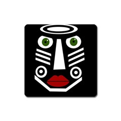 African mask Square Magnet