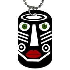 African mask Dog Tag (Two Sides)