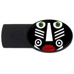 African mask USB Flash Drive Oval (2 GB)