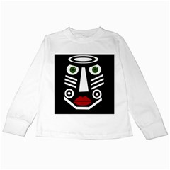 African mask Kids Long Sleeve T-Shirts
