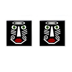 African mask Cufflinks (Square)
