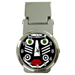African mask Money Clip Watches