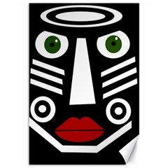 African mask Canvas 12  x 18
