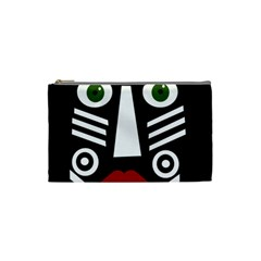 African mask Cosmetic Bag (Small)