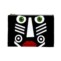 African mask Cosmetic Bag (Large)