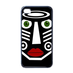 African mask Apple iPhone 4 Case (Black)