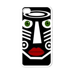 African mask Apple iPhone 4 Case (White)