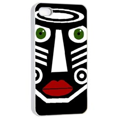 African mask Apple iPhone 4/4s Seamless Case (White)