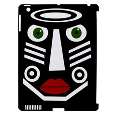 African mask Apple iPad 3/4 Hardshell Case (Compatible with Smart Cover)