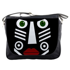 African mask Messenger Bags