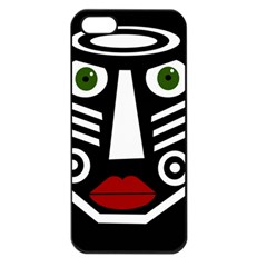 African mask Apple iPhone 5 Seamless Case (Black)