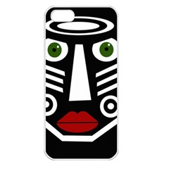 African mask Apple iPhone 5 Seamless Case (White)