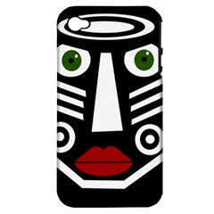 African mask Apple iPhone 4/4S Hardshell Case (PC+Silicone)