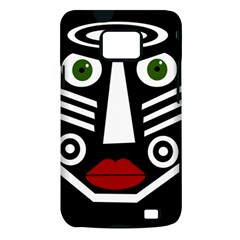 African mask Samsung Galaxy S II i9100 Hardshell Case (PC+Silicone)