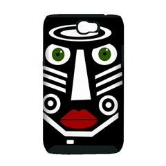 African mask Samsung Galaxy Note 2 Hardshell Case (PC+Silicone)