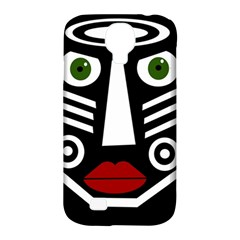 African mask Samsung Galaxy S4 Classic Hardshell Case (PC+Silicone)