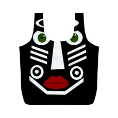 African mask Full Print Recycle Bags (M)