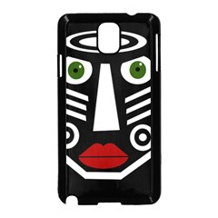 African mask Samsung Galaxy Note 3 Neo Hardshell Case (Black)