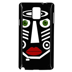 African mask Samsung Galaxy Note 4 Case (Black)