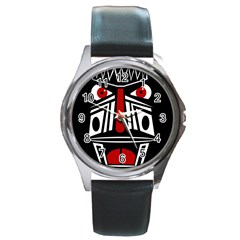 African red mask Round Metal Watch