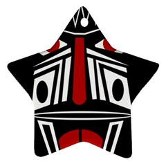 African red mask Ornament (Star)